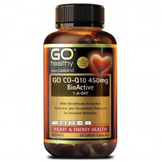 GO Healthy GO Co-Q10 450mg BioActive 1-A-Day 60 Capsules