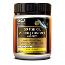 GO Healthy GO Fish Oil Odourless 2000mg Compact 230 Capsules