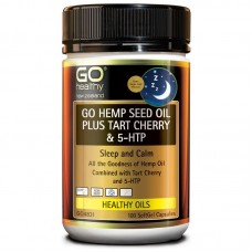 GO Healthy GO Hemp Seed Oil Plus Tart Cherry & 5HTP 100 Caps