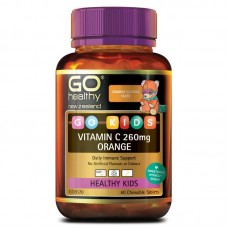 GO Healthy GO Kids Vitamin C 260mg Orange 60 Chewable Tablets