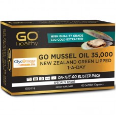 GO Healthy Go Mussel Oil 35000mg 1 A Day 60 Capsules