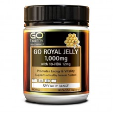 GO Healthy Go Royal Jelly 1000mg 10 HDA 12mg 180 Capsules