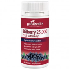 Good Health Bilberry 25000 Plus Lutein 6mg 60 Capsules