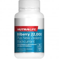 Nutra-Life Bilberry 22000 Plus NZ Blackcurrant 60 Capsules