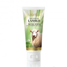 Wild Ferns Lanolin Facial Scrub with Cucumber and Avocado 100ml
